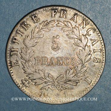 Coins 1er empire (1804-1814). 5 francs EMPIRE 1811D. Lyon