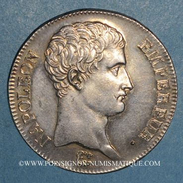 Coins 1er empire (1804-1814). 5 francs tête nue an 13A