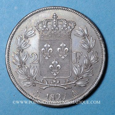 Coins Charles X (1824-1830). 2 francs 1827A