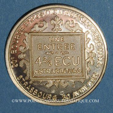 Coins Ecu des Villes. Strasbourg. 4 2/3 ecu 1995