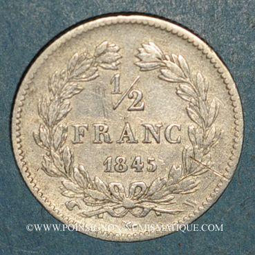 Coins Louis-Philippe (1830-1848). 1/2 franc 1845W. Lille