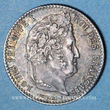 Coins Louis Philippe (1830-1848). 1/4 franc 1831A