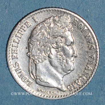 Coins Louis Philippe (1830-1848). 1/4 franc 1832W. Lille