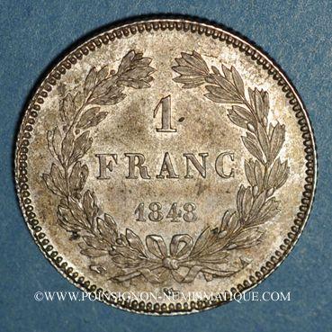 Coins Louis Philippe (1830-1848). 1 franc 1848A