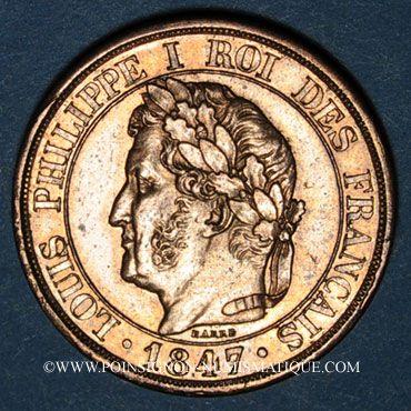 Coins Louis Philippe (1830-1848). 2 centimes 1830. Type à la Charte. Essai de Concours