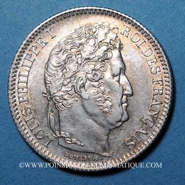 Coins Louis-Philippe (1830-1848). 2 francs 1845BB. Strasbourg