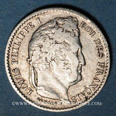 Coins Louis-Philippe (1830-1848). 25 centimes 1846BB. Strasbourg. 7 922 ex !