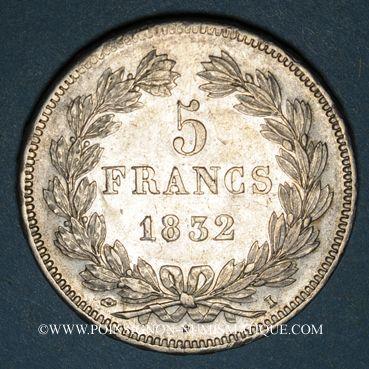 Coins Louis Philippe (1830-1848). 5 francs 1832I. Limoges