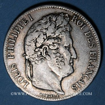 Coins Louis Philippe (1830-1848). 5 francs 1838A