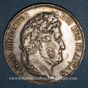 Coins Louis Philippe (1830-1848). 5 francs 1838W. Lille