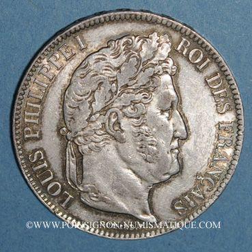 Coins Louis Philippe (1830-1848). 5 francs 1840B. Rouen