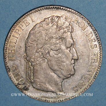 Coins Louis Philippe (1830-1848). 5 francs 1843W. Lille