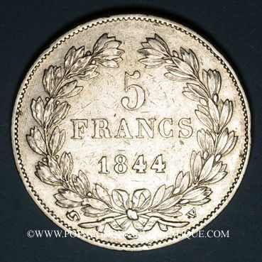 Coins Louis Philippe (1830-1848). 5 francs 1844W. Lille