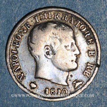 Coins Royaume d'Italie. Napoléon I (1805-1814). 5 soldi 1810M. Milan