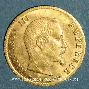 Coins 2e empire (1852-1870). 5 francs tête nue 1860 BB. Strasbourg. (PTL 900‰. 1,612 g)