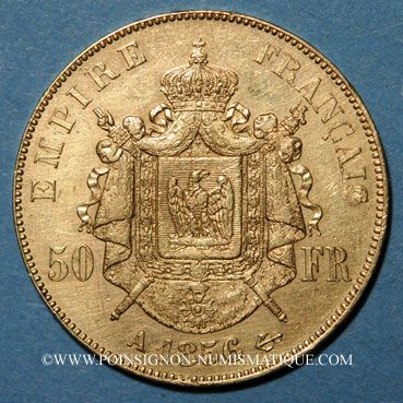 french modern gold coins 2e empire (1852-1870)  50 francs