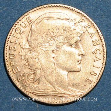 french modern gold coins 3e république (1870-1940)  10 francs