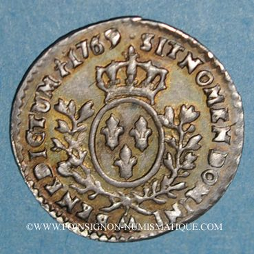 Coins Louis XV (1715-1774). 1/20 écu au bandeau 1769 AA. Metz