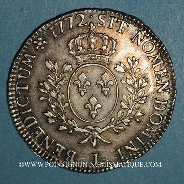 Coins Louis XV (1715-1774). Ecu à la vieille tête 1772 L. Bayonne