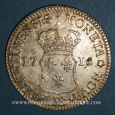 Coins Louis XV (17151774). 40 sols de Strasbourg 1716 BB. Réformation.