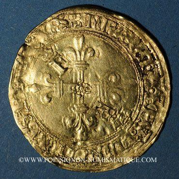 Coins François I (1515-1547). Ecu d'or au soleil du Dauphiné, 2e type. Grenoble