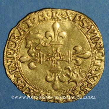 Coins François I (1515-1547). Ecu d'or au soleil du Dauphiné, 7e type (après 1528). R couronné, Romans