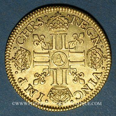 Coins Louis XIII (1610-1643). Louis d'or 1642 A. Type avec mèche mi-longue sans baie