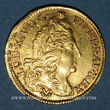 Coins Louis XIV (1643-1715). Demi-louis à l'écu 1692P. Dijon. Réformation
