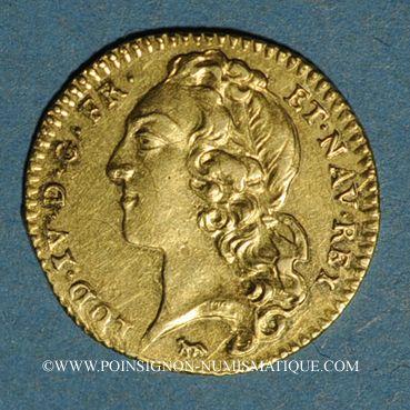 Coins Louis XV (1715-1774). Demi-louis d'or au bandeau 1743 A, 2e semestre