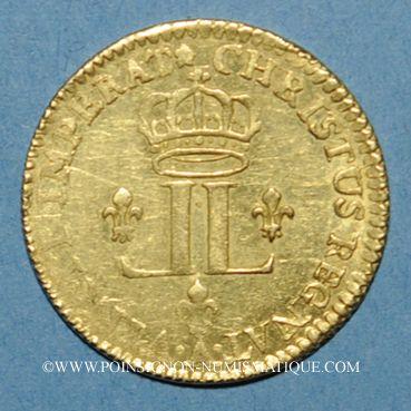 Coins Louis XV (1715-1774). Louis d'or aux 2 L 1722 A. Réformation