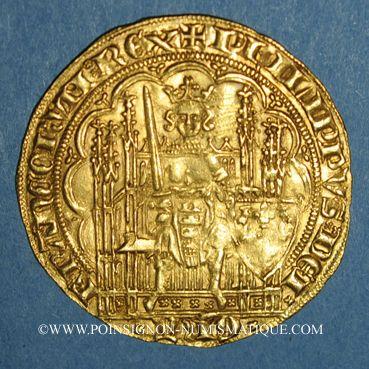 Coins Philippe VI de Valois (1328-1350). Ecu d'or à la chaise. 1ère émission (1er janvier 1337)