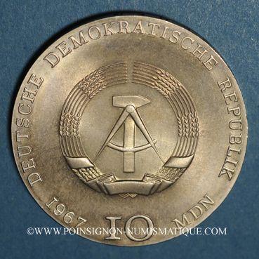 Coins République Démocratique allemande.10 mark 1967. Käthe Kollwitz