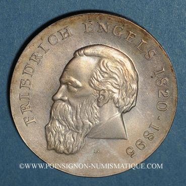 Coins République Démocratique allemande. 20 mark 1970. 150e anniversaire de la naissance de F. Engels