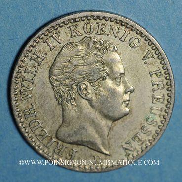 Coins Prusse. Frédéric Guillaume IV (1840-1861). 1/6 taler 1843 D