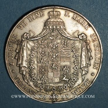 Coins Prusse. Frédéric Guillaume IV (1840-1861). Double taler 1855A