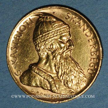 Coins Albanie. République. 20 franga 1927 V. (PTL 900‰. 6,45 g)