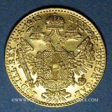 Coins Autriche. François Joseph (1848-1916). 1 ducat 1915. Refrappe. (PTL 986‰. 3,49 g)