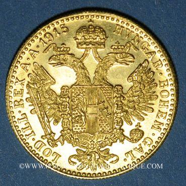 Coins Autriche. François Joseph (1848-1916). 1 ducat 1915. Refrappe. (PTL 986/1000. 3,49 g)