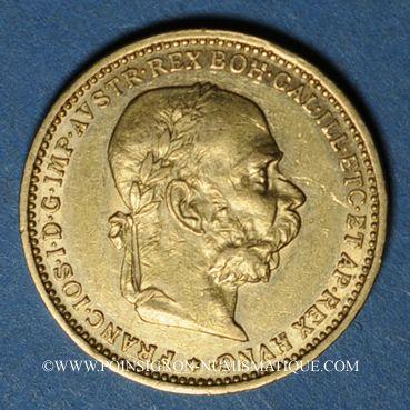 Coins Autriche. François Joseph (1848-1916). 20 couronnes 1893. (PTL 900‰. 6,78 g)
