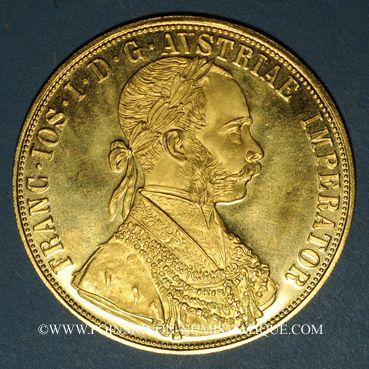 Coins Autriche. François Joseph (1848-1916). 4 ducats 1915. Refrappe. (PTL 986/1000. 13,96 g)
