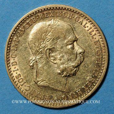 Coins Autriche. François Joseph I (1848-1916). 10 couronnes 1905. (PTL 900‰. 3,39 g)