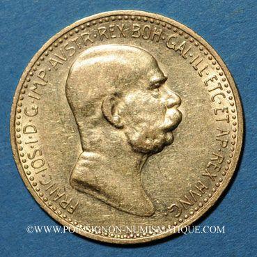 Coins Autriche. François Joseph I (1848-1916). 10 couronnes 1909. (PTL 900/1000. 3,39 g)
