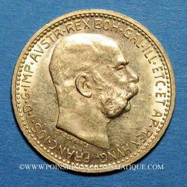 Coins Autriche. François Joseph I (1848-1916). 10 couronnes 1911. (PTL 900‰. 3,39 g)