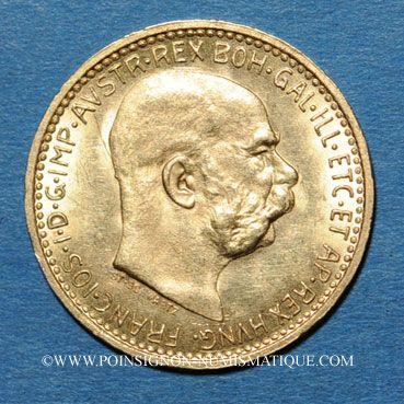 Coins Autriche. François Joseph I (1848-1916). 10 couronnes 1911. (PTL 900/1000. 3,39 g)