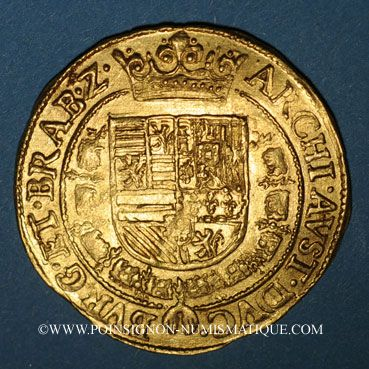 Coins Brabant. Albert et Isabelle (1598-1621). Double ducat (1600-1611). Anvers