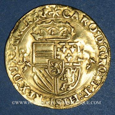 Coins Brabant. Charles Quint (1506-1555). Couronne d'or au soleil 1544. Anvers