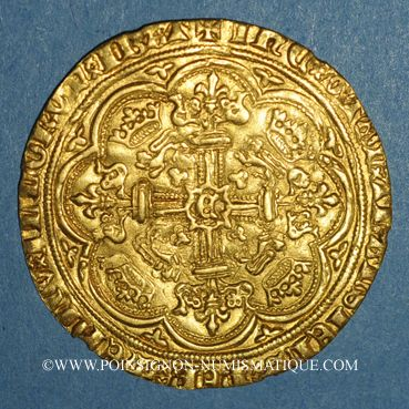 Coins Grande Bretagne. Edouard III (1327-1377). Noble, n.d. (1369-1377)