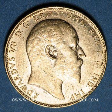 Coins Grande Bretagne. Edouard VII (1901-1910). Souverain 1907. (PTL 917/1000. 7,99 g)