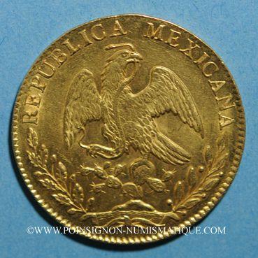 Coins Mexique. 1ère République. 8 escudos 1863 CH. Mexico. (PTL 27,07 g. 875 ‰)