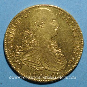 Coins Mexique. Charles IV (1788-1808). 8 escudos 1792FM. Mexico